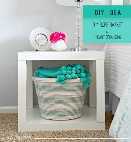 DIY baskets storage