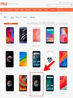 Pilih Tipe Xiaomi Untuk Cek ROM asli