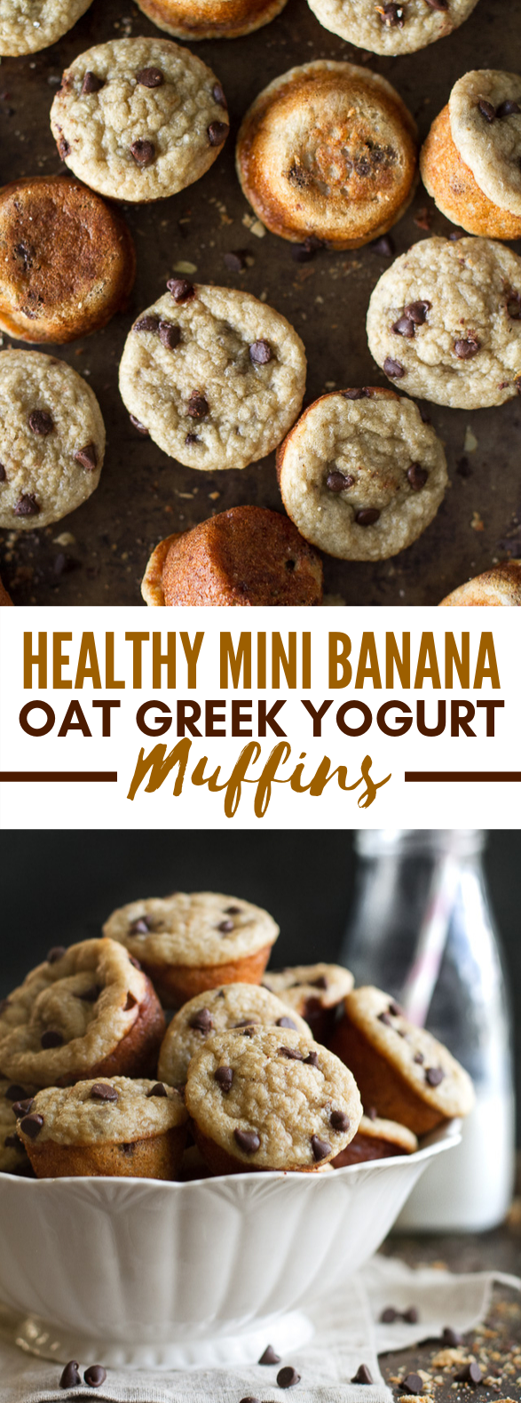 MINI BANANA OAT GREEK YOGURT MUFFINS #healthy #lowcarb