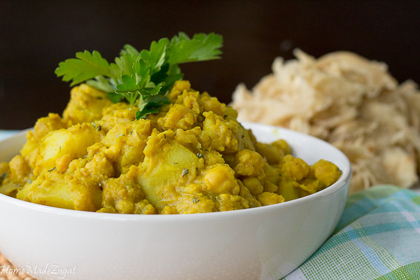 Curry Channa and Aloo