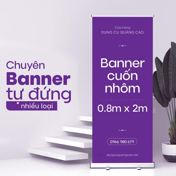 Banner cuốn nhôm 80x200 là dụng cụ quảng cáo được được sử dụng phổ biến