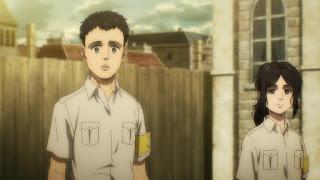 進撃の巨人第4期アニメ | ピーク 幼少期 | 車力の巨人 | Attack on Titan | Pieck Cart Titan | Hello Anime !