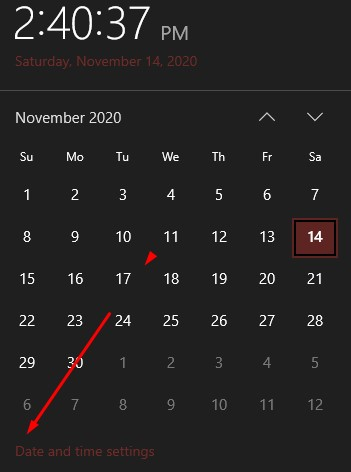 Fitur Menu Date And Time Settings