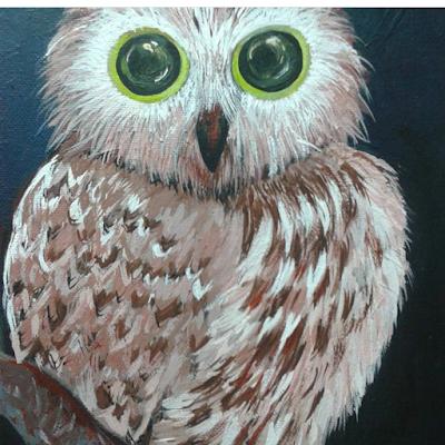 eastern screech owl story ea-art com