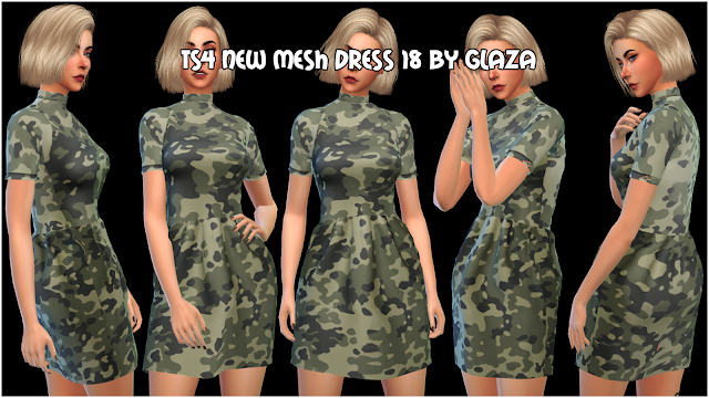 TS4 NEW MESH DRESS 18 BY GLAZA