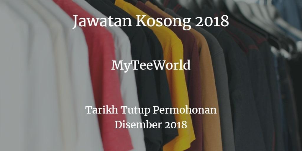 Jawatan Kosong MyTeeWorld Disember 2018