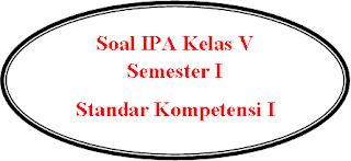 Soal PR Online IPA Kelas V Semester I SK I
