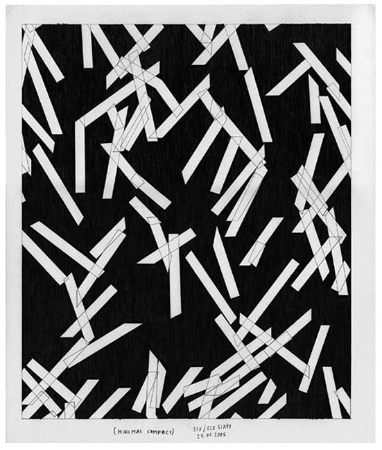 Marc Nagtzaam  z.t. (Minimal Compact), 2005  pencil on paper 34 x 29 cm