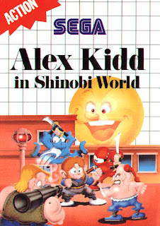 Portada del cartucho de la SMS Alex Kidd in Shinobi World, SEGA, 1991