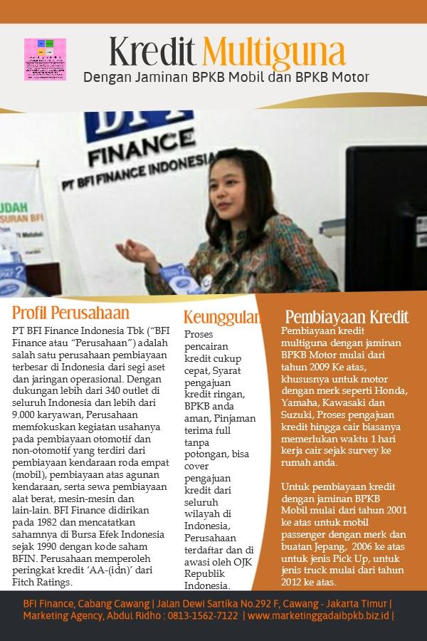 Profil perusahaan pembiayaan kredit BFI Finance