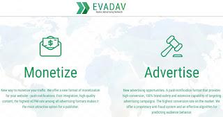 Evadav, monetización web con notificaciones nativas