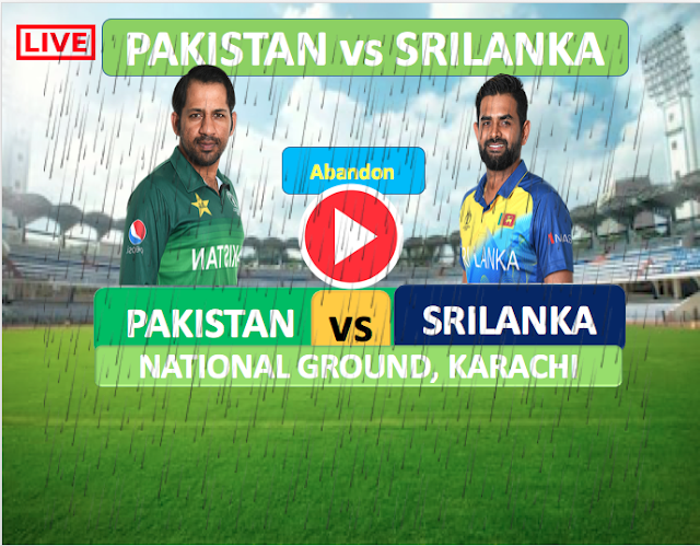 Pakistan vs SriLanka :First match canceled due to rain, change in the day of the second ODI.