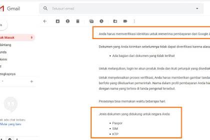 Cara Ampuh Verifikasi Indentitas di Akun Google Adsense