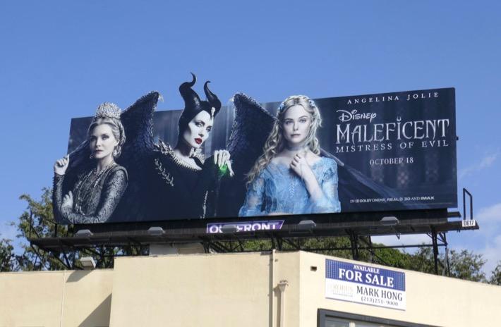Maleficent Mistress of Evil billboard