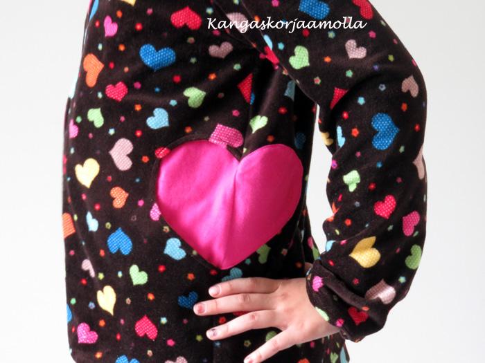 Sydämen muotoinen tasku