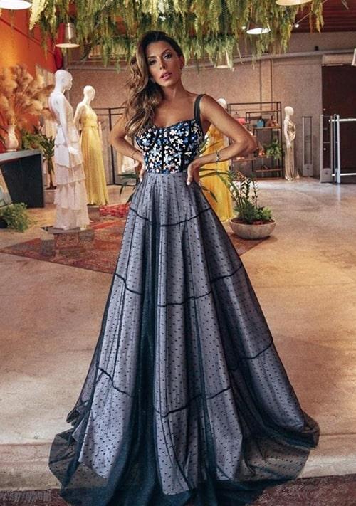 vestido de festa estilo princesa