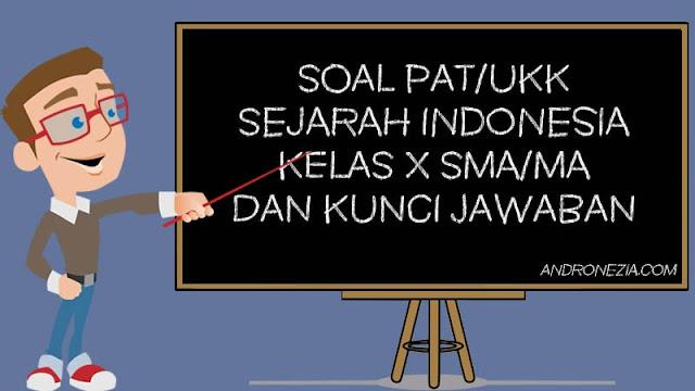 Soal PAT/UKK Sejarah Indonesia Kelas 10 Tahun 2021