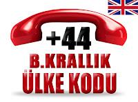 +44 Birleşik Krallık ülke telefon kodu