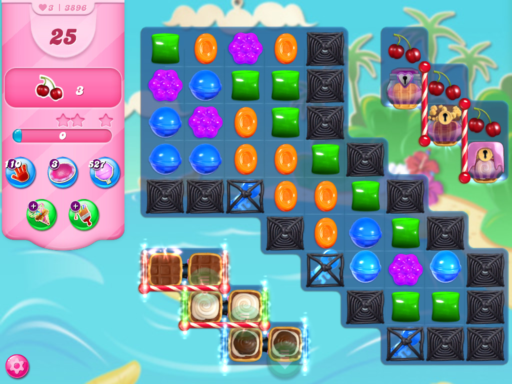 Candy Crush Saga level 3896