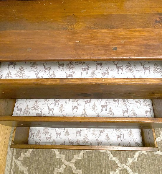 DIY Vintage Farmhouse Sideboard and drawer liners