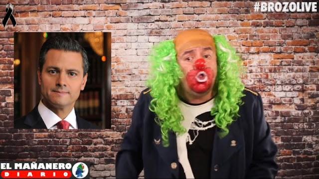 Brozo a Peña Nieto: no te hagas wey, tu espionaje está demostrado.