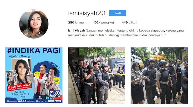 Akun Instagram Bripda Ismi Aisyah