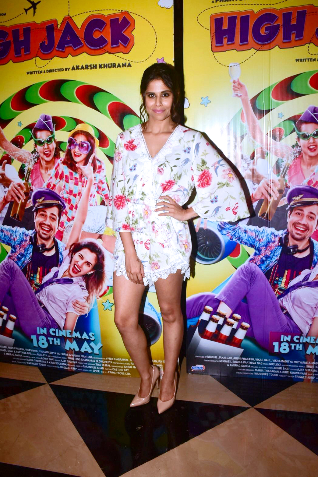 Sai Tamhankar Showing Smooth Legs At High Jack Movie Special Screening