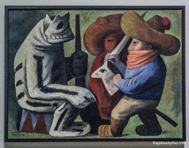 Tela do pintor mexicano José Chavez Morado, Carnaval em Huejotzingo