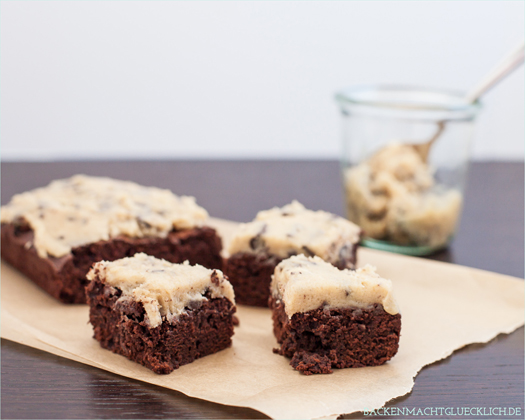 Brownies mit Chocolate Chip Cookie Dough