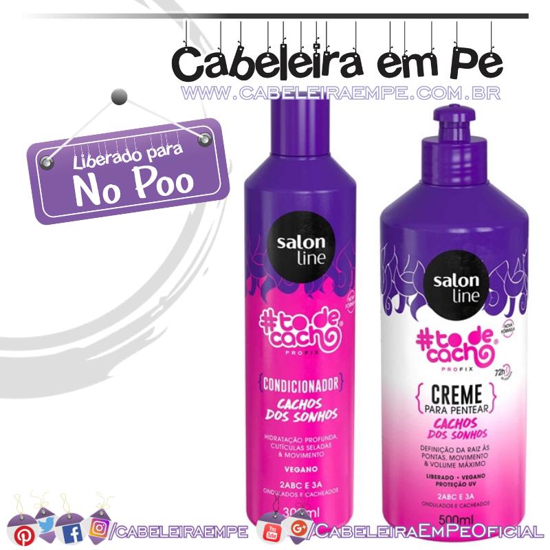 Condicionador E Creme Para Pentear #todecacho Cachos Dos Sonhos Salon Line (No Poo)