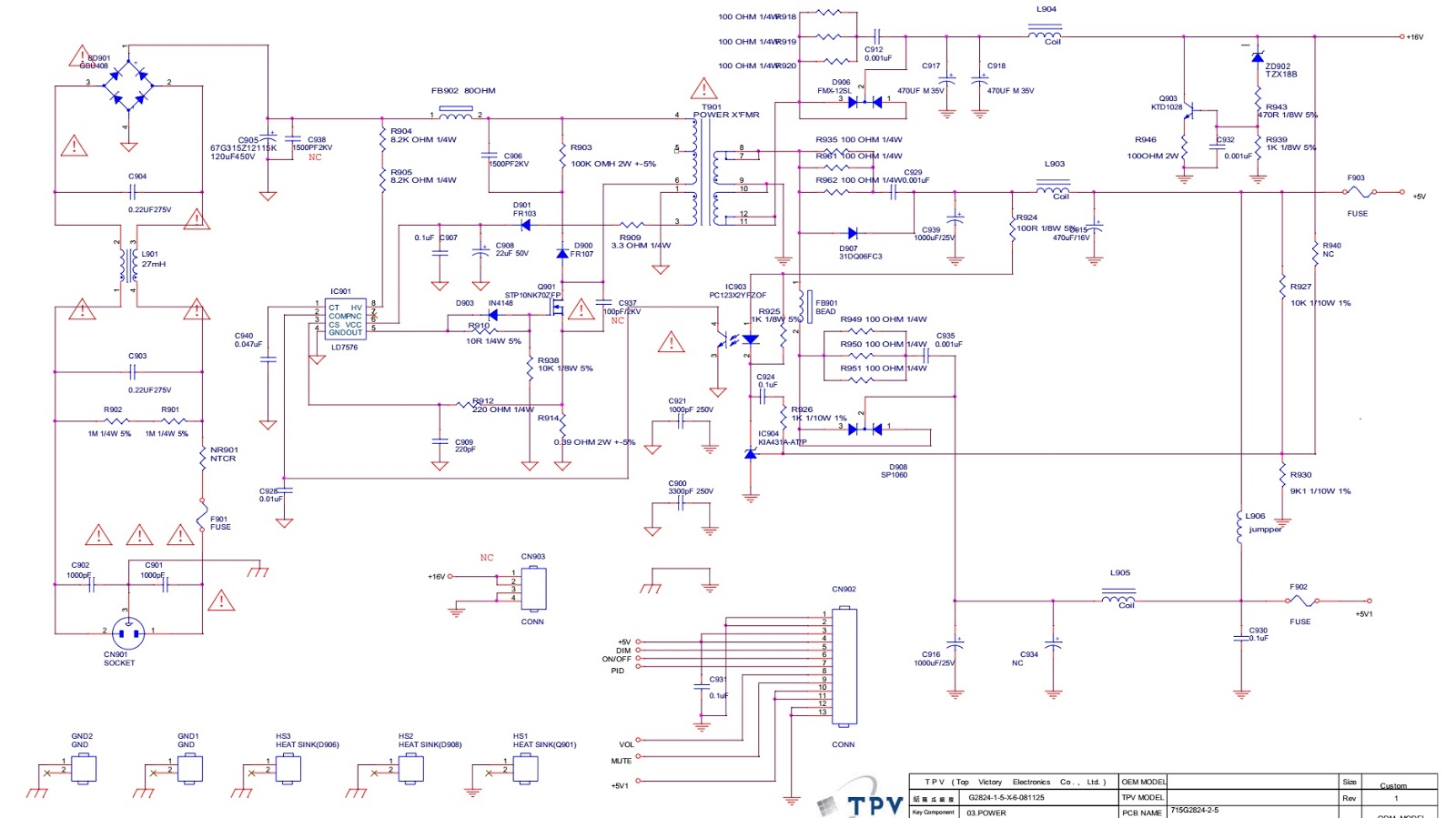 Electro Help  Aoc2430v And Acer Monitor Circuit Diagram