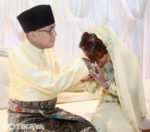 Gambar Hattan Dan Arianie Sah Bergelar Suami Isteri