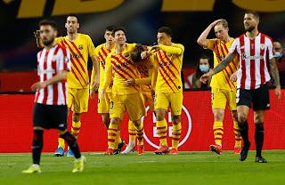 برشلونة ، أتليتيك بلباو ، كأس ملك إسبانيا .