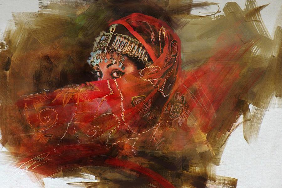 Mahnoor Shah ~ Pintor figurativo abstrato