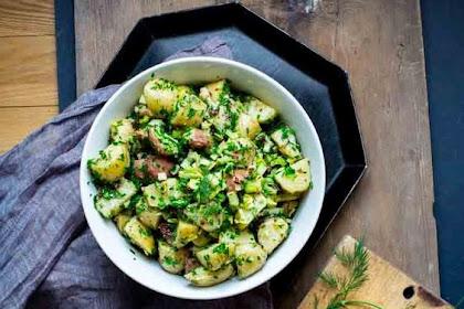 Delicious Herbed Potato Salad Recipe (no mayo)