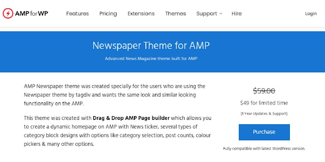 Newspaper Theme for AMP for WP Free Download