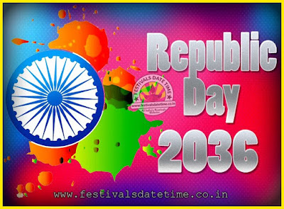 2036 Republic Day of India Date, 2036 Republic Day Calendar