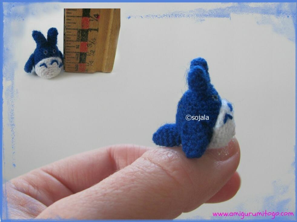Amigurumi Totoro : Miniature thread totoro free crochet pattern amigurumi to go