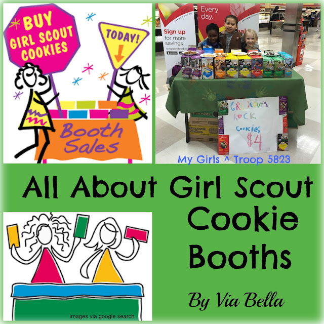 All About Girl Scout Cookie Booths, Girl Scout Cookies, Cookie Booths, GSCNC, Troop 5823, Via Bella