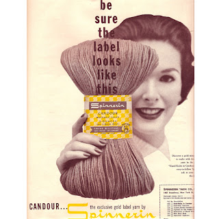 Candour Yarn Magazine Advertisement in 1956 McCalls Needlecraft Magazine