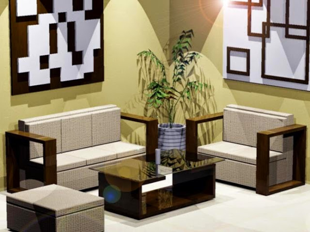 Contoh desain ruang tamu minimalis ukuran 3x3