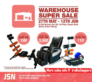 JSN Warehouse Clearance Sales in Penang