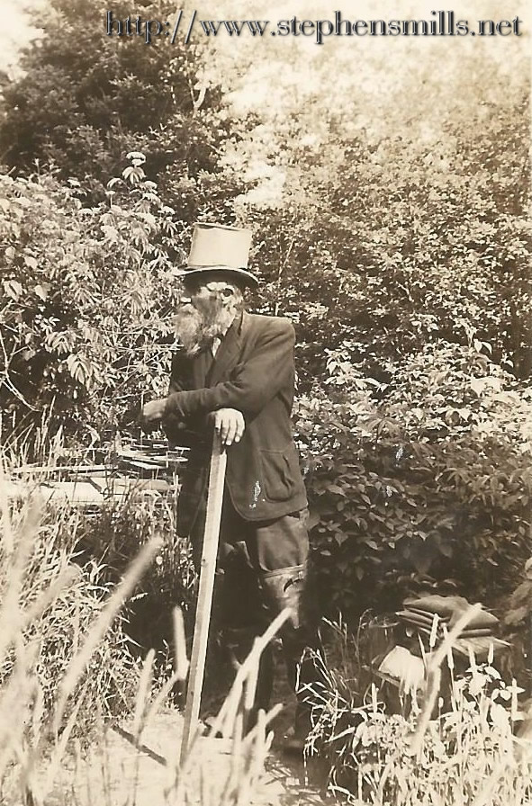 "Photo of Benjamin ""Benny"" Wells - Hermit of Greenwood, Maine   Greenwood City, Maine 1940"