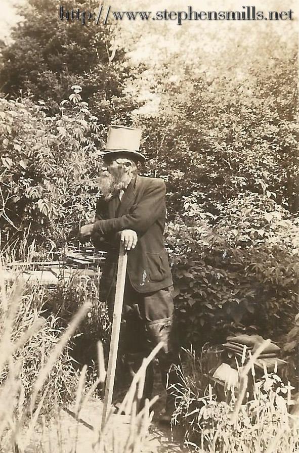 "Photo of Benjamin ""Benny"" Wells - Hermit of Greenwood, Maine   Greenwood City, Maine 1940"