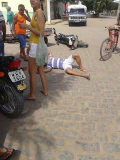 Motos colidem em Cuité; Samu acionado socorre vítima