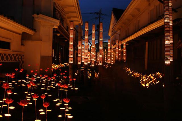 Usuki Takeyoi (bamboo lantern), Usuki City, Oita Pref.