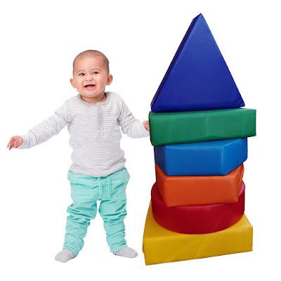set figuras geometricas 6 piezas estimulacion juego espuma psicomotricidad colores azul verde amarillo rojo celeste anaranjado triangulo bebe