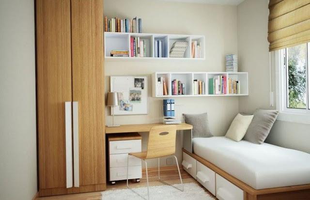 Desain Kamar Tidur Ruangan Kecil