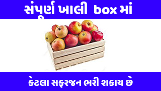 How many apples can be filled in a completely empty box