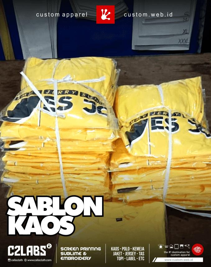 Custom Sablon Kaos Desain by Request - Sablon Kaos Jogja